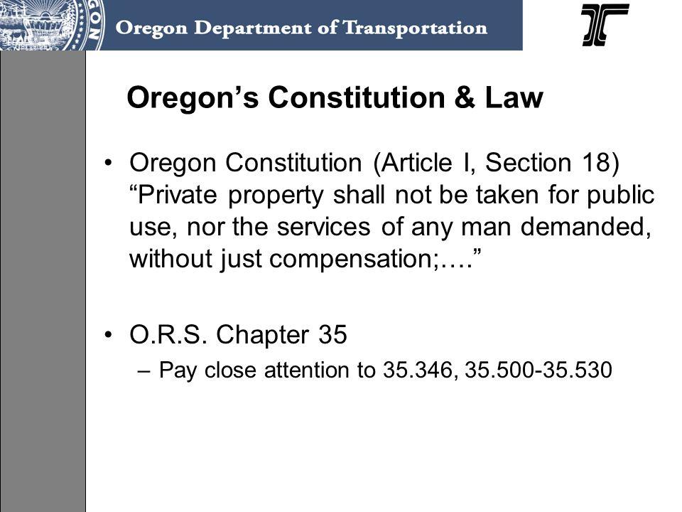 Oregon's Constitution & Law