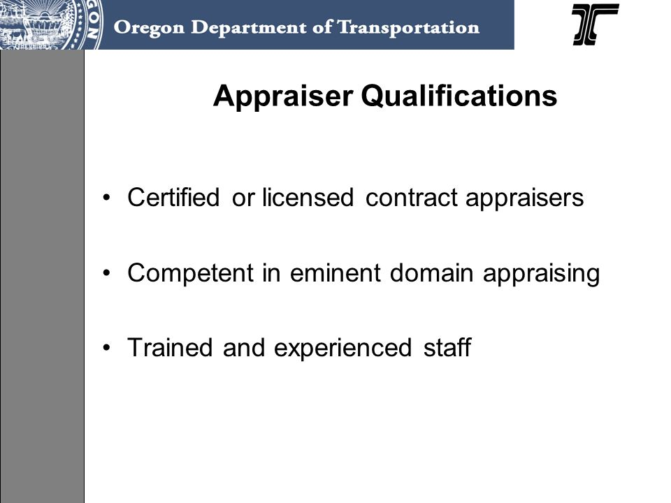 Appraiser Qualifications