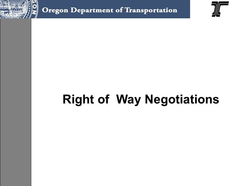 Right of Way Negotiations