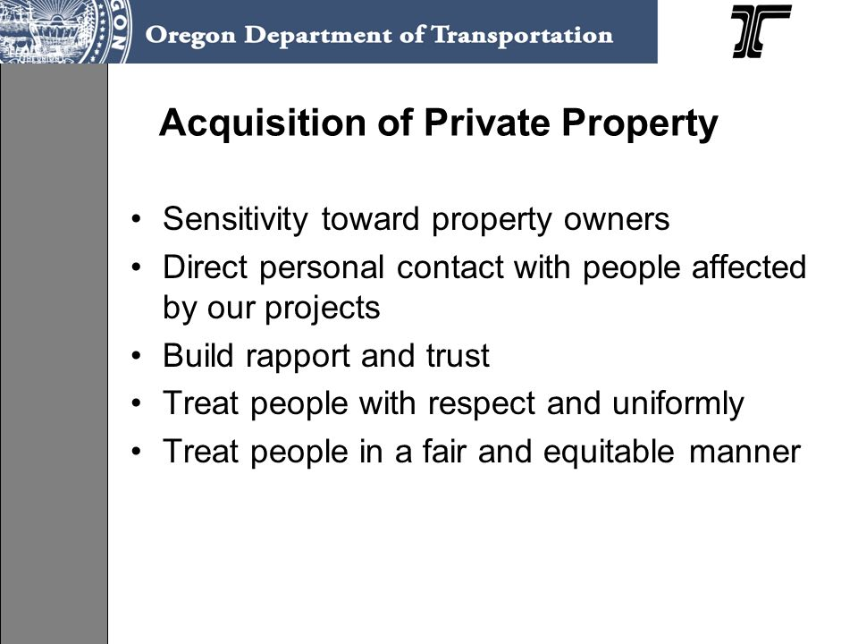 Acquisition of Private Property