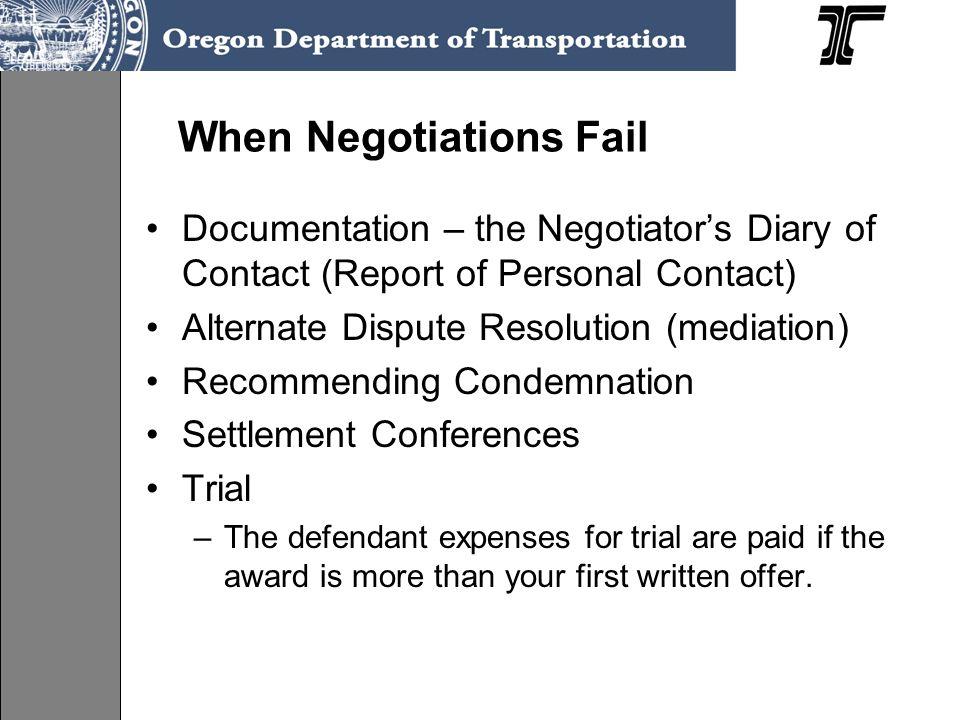 When Negotiations Fail