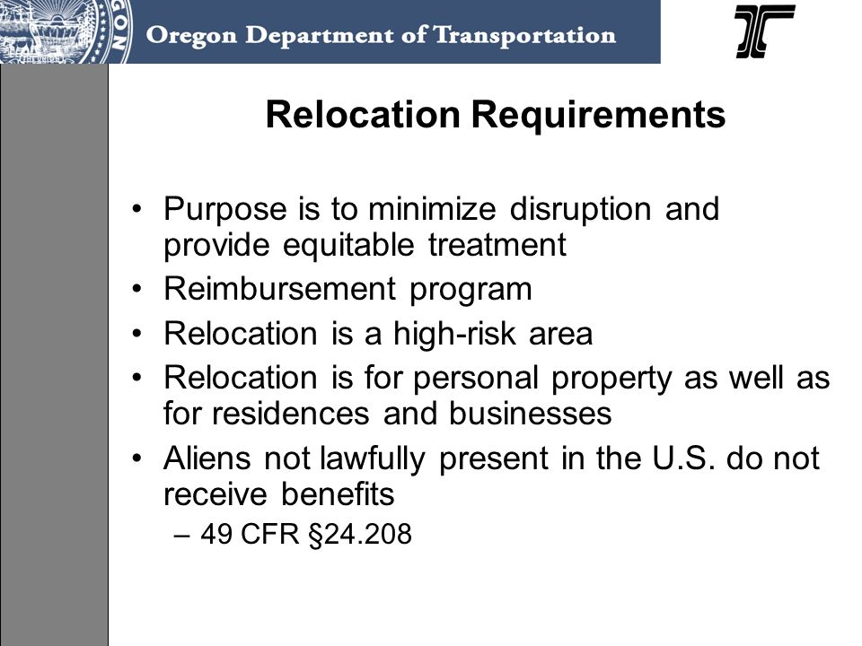 Relocation Requirements