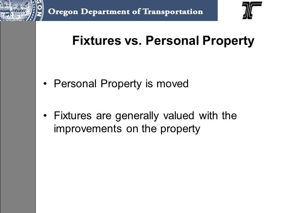 Fixtures vs. Personal Property