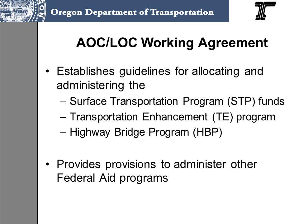 AOC/LOC Working Agreement