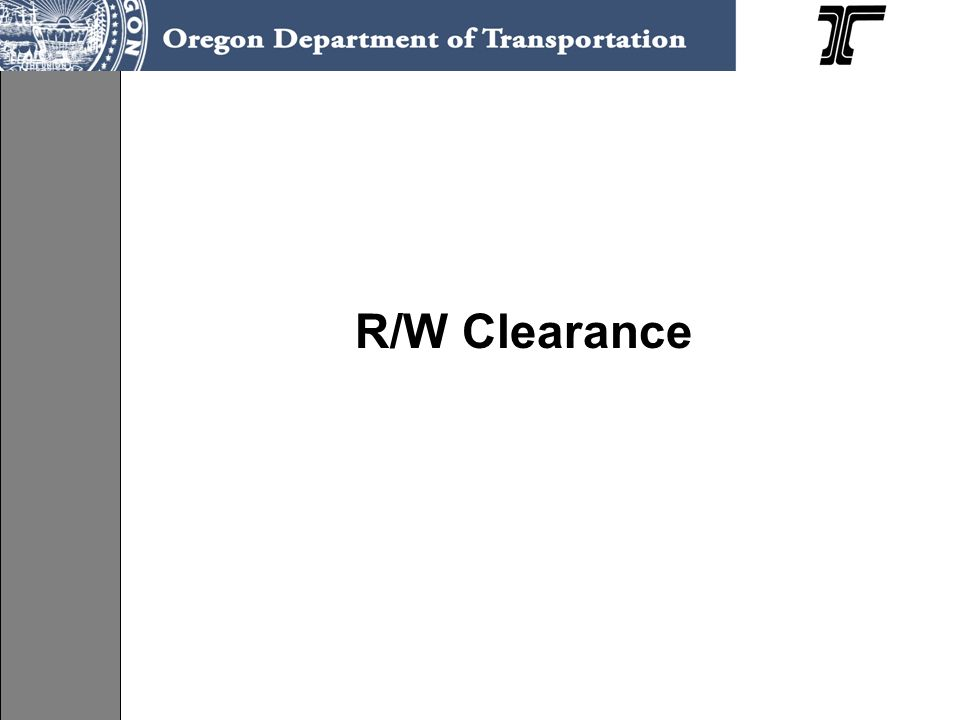 R/W Clearance