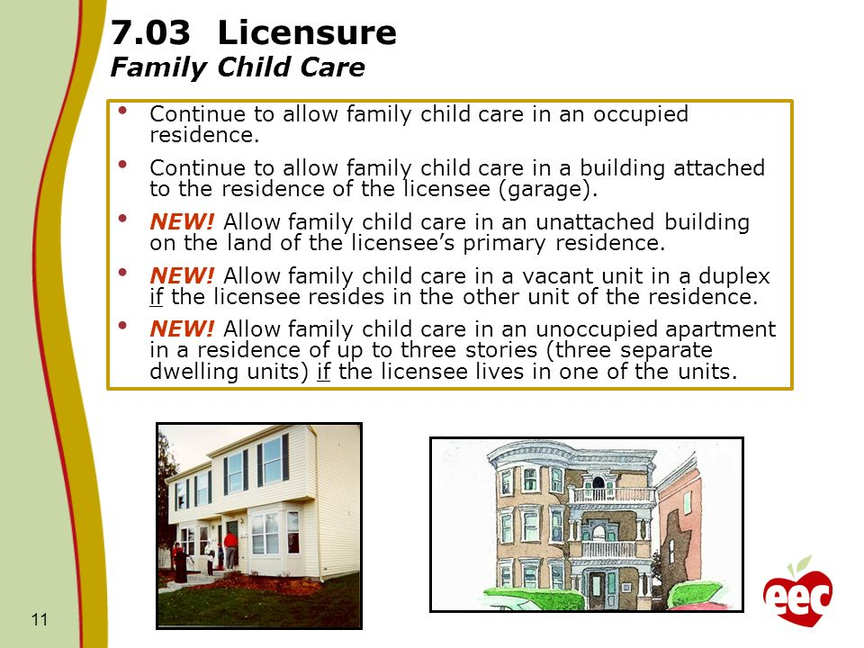 7.03 Licensure Family Child Care