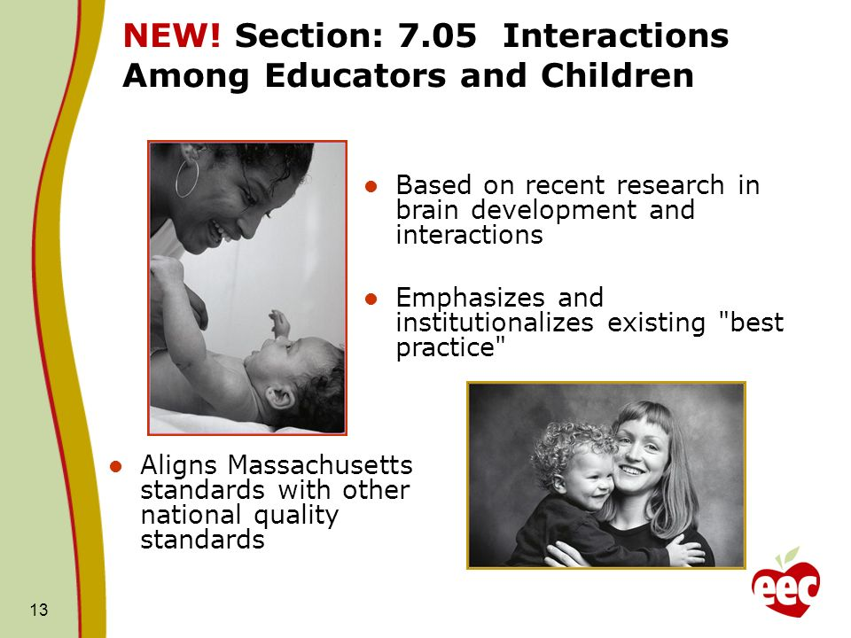 NEW! Section: 7.05 Interactions Among Educators and Children