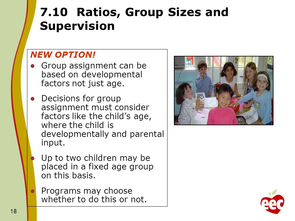 7.10 Ratios, Group Sizes and Supervision