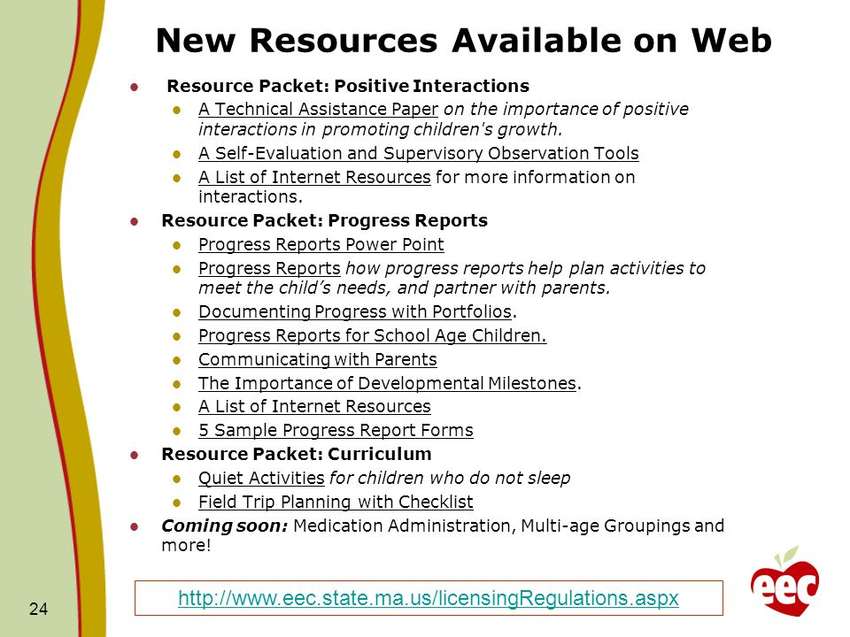 New Resources Available on Web