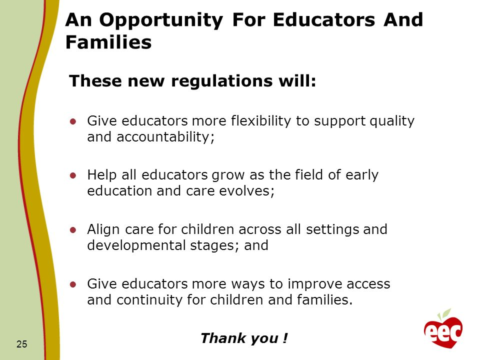 An Opportunity For Educators And Families