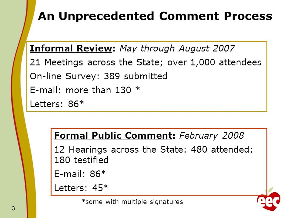 An Unprecedented Comment Process