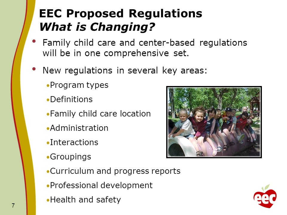 EEC Proposed Regulations What is Changing