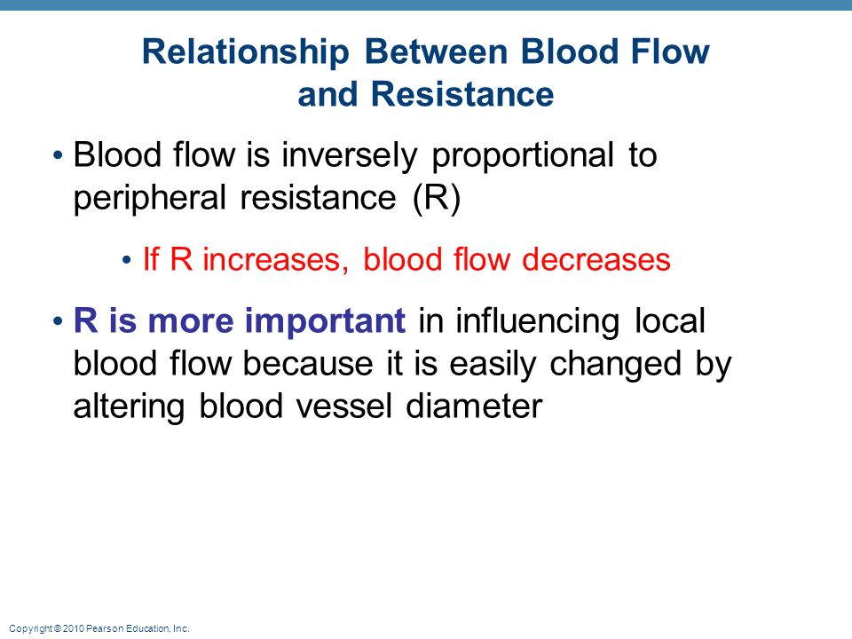 what could cause an increase in the peripheral resistance in a blood vessel Pulmonary vascular resistance  resistance is increased because: stretching of alveolar walls  = blood flow increase.