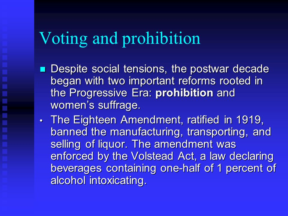Voting and prohibition