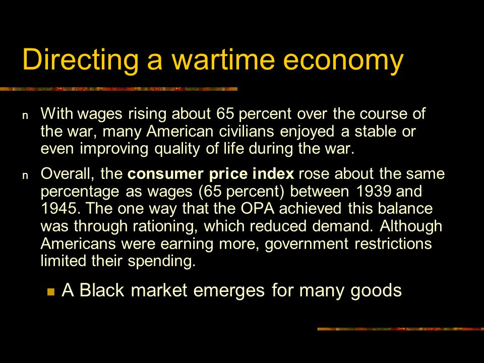 Directing a wartime economy