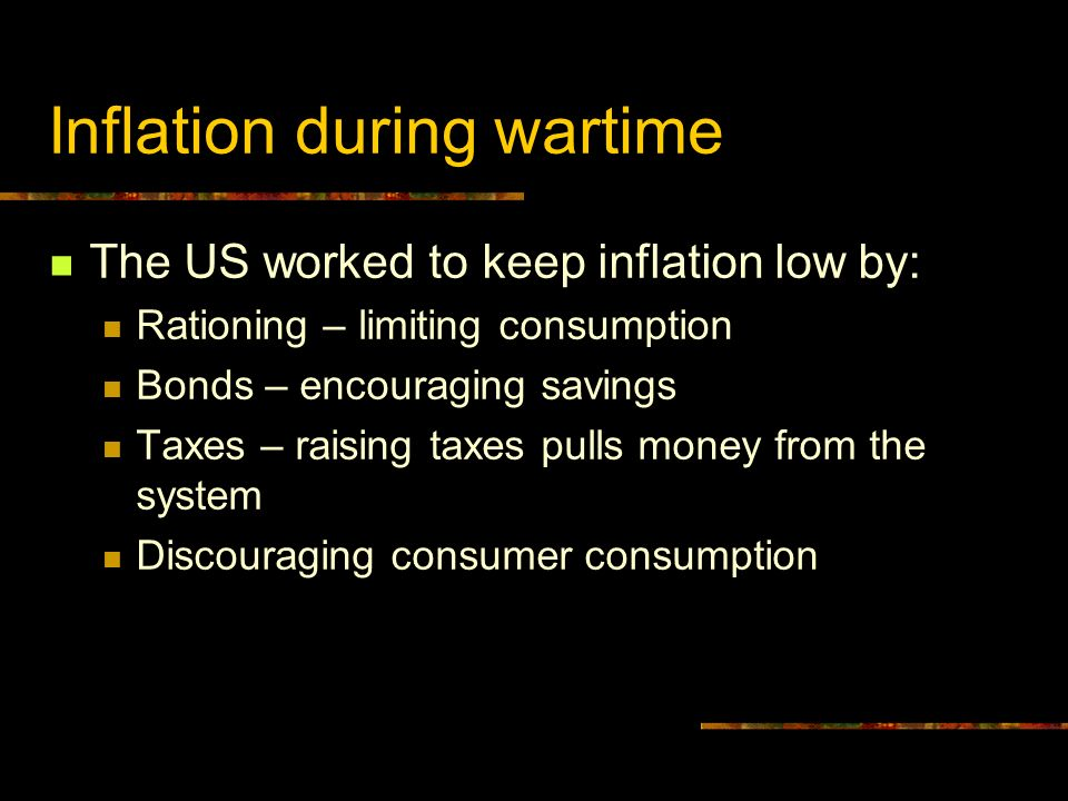 Inflation during wartime