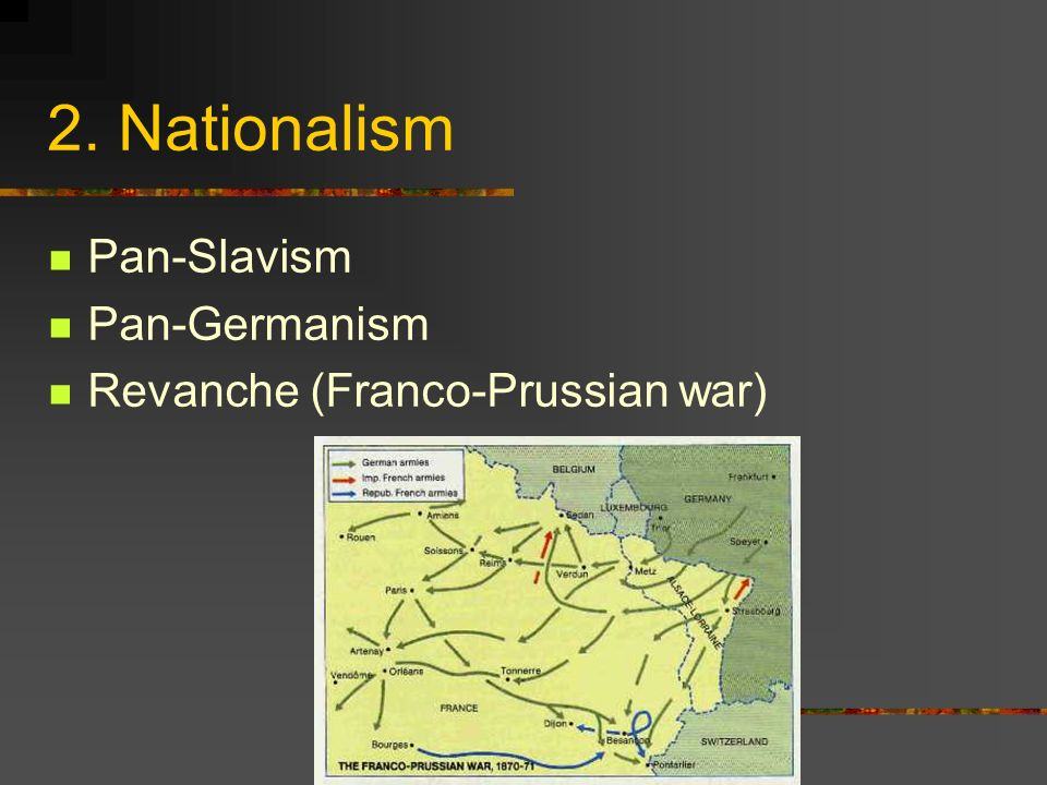 2. Nationalism Pan-Slavism Pan-Germanism