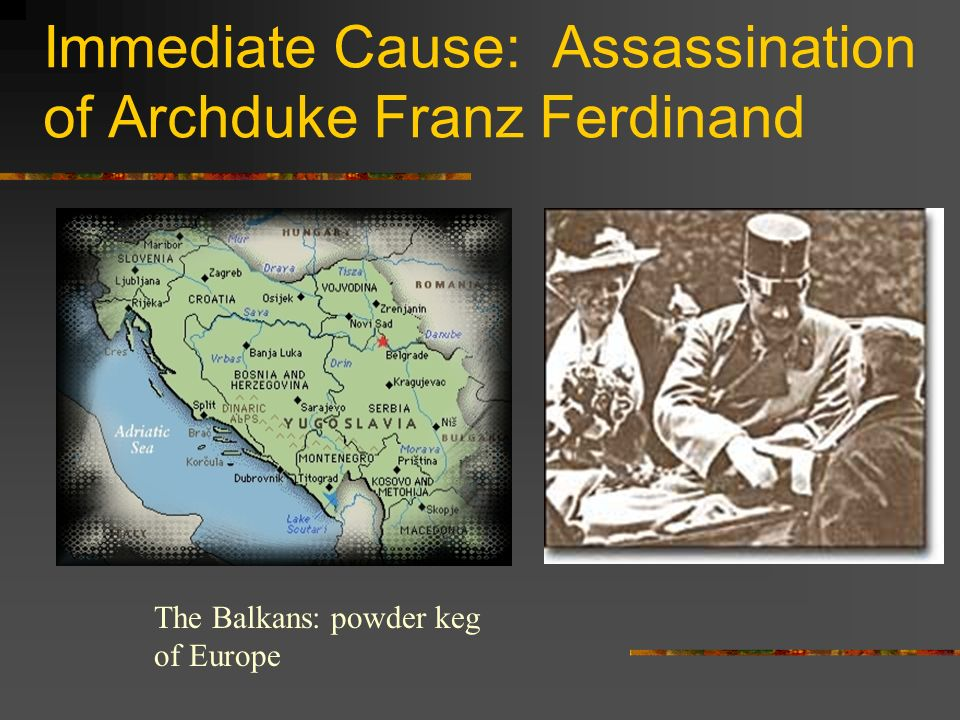 Immediate Cause: Assassination of Archduke Franz Ferdinand