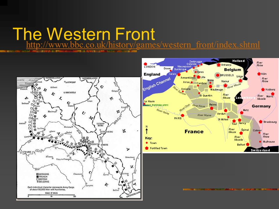 The Western Front http://www.bbc.co.uk/history/games/western_front/index.shtml. www.bbc.co.uk/history/games/ western_front/index.shtml.