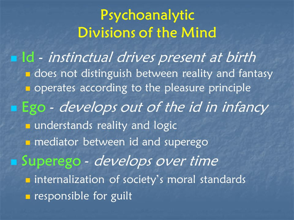 Psychoanalytic Divisions of the Mind