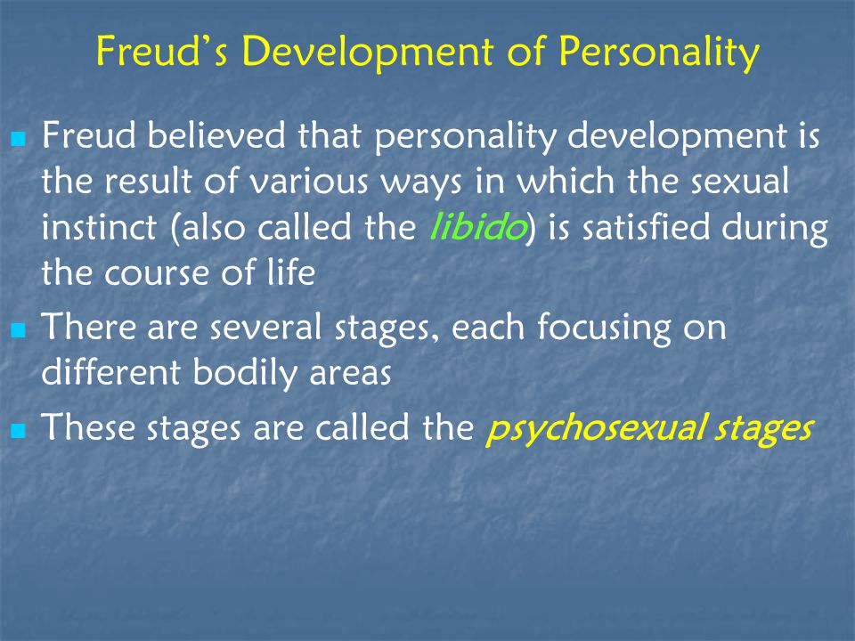 Freud's Development of Personality
