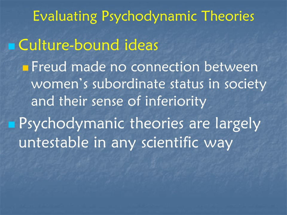 Evaluating Psychodynamic Theories