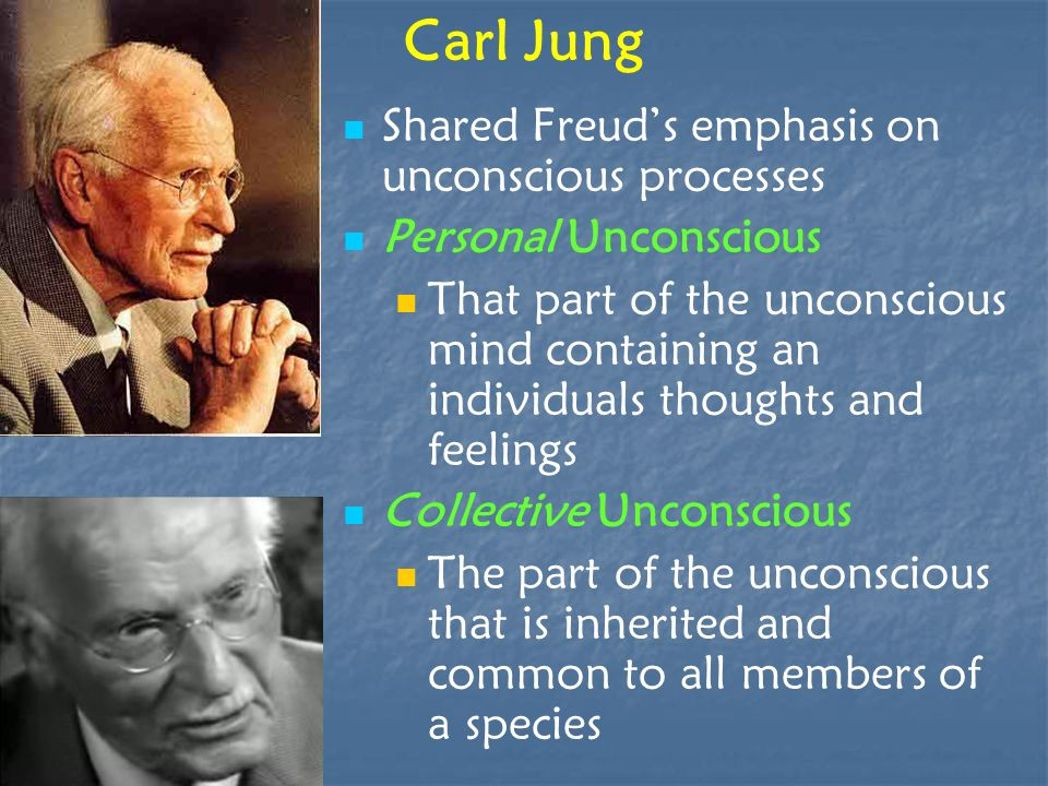 Carl Jung Shared Freud's emphasis on unconscious processes