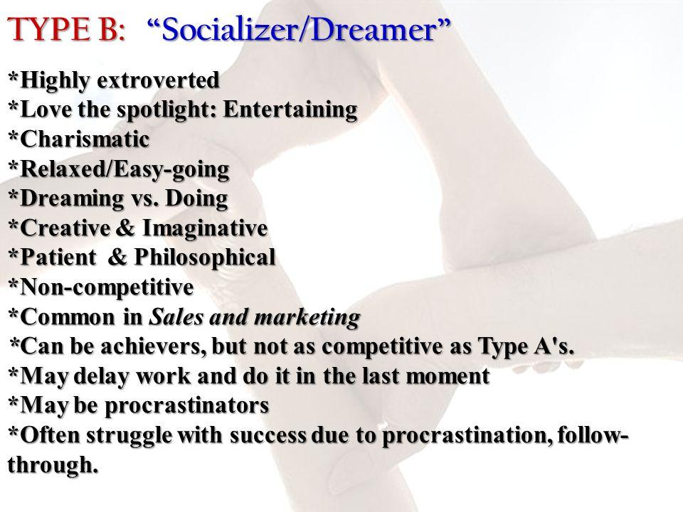 TYPE B: Socializer/Dreamer