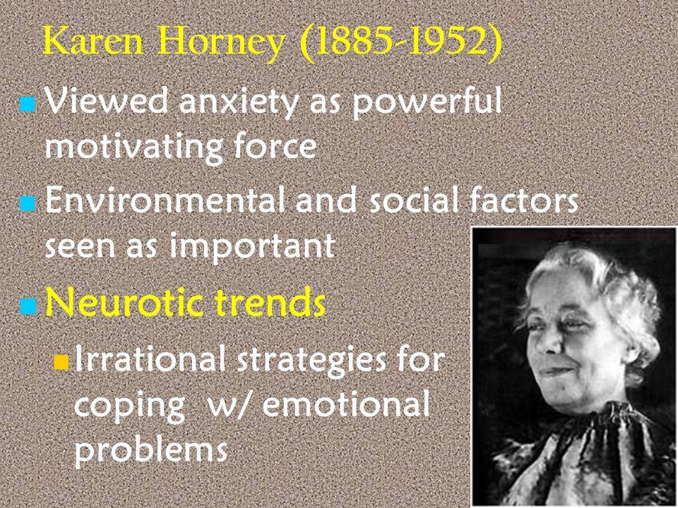 Karen Horney (1885-1952) Neurotic trends