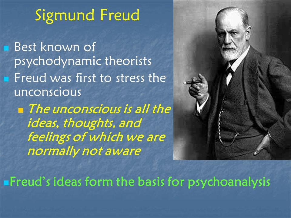 Sigmund Freud Best known of psychodynamic theorists