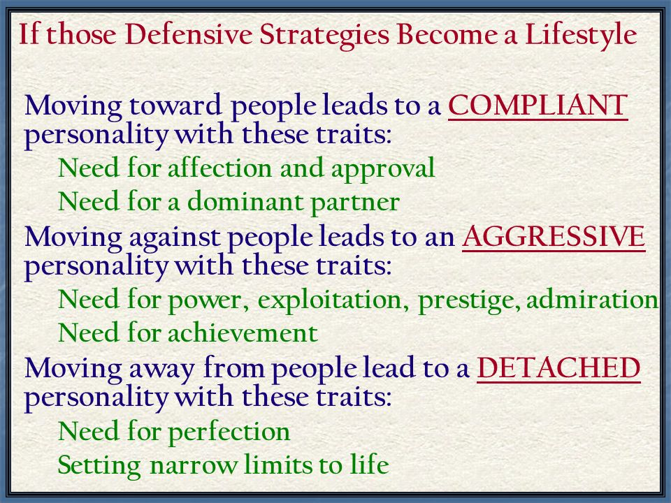 If those Defensive Strategies Become a Lifestyle