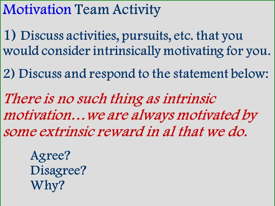 Motivation Team Activity