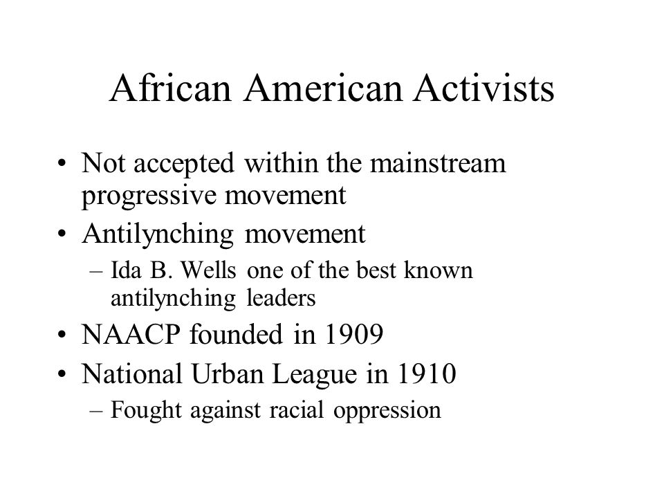 African American Activists