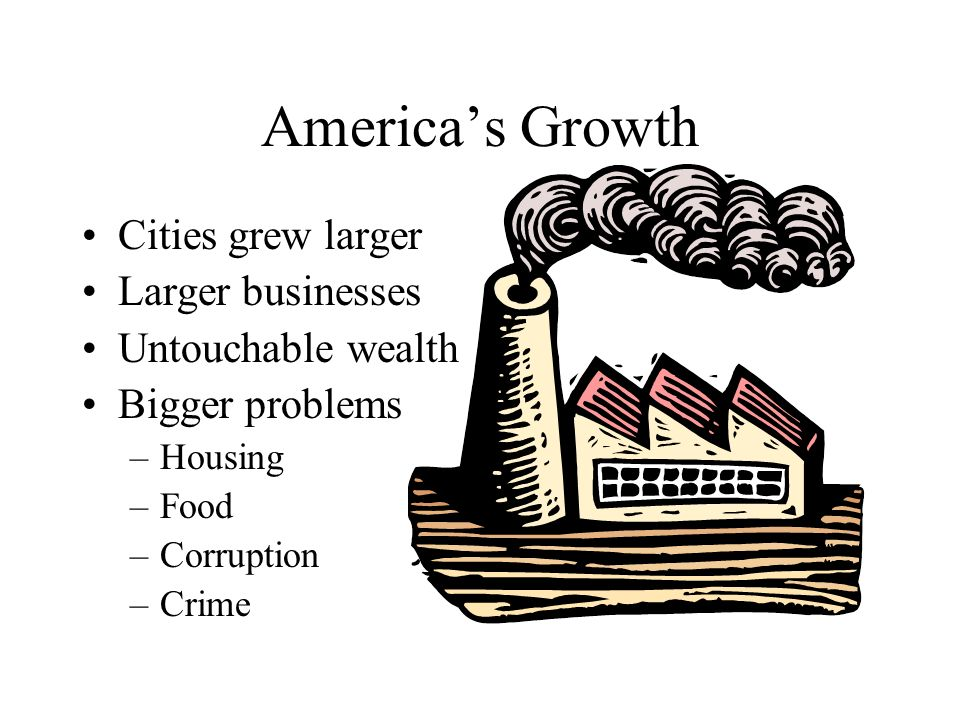 America's Growth Cities grew larger Larger businesses