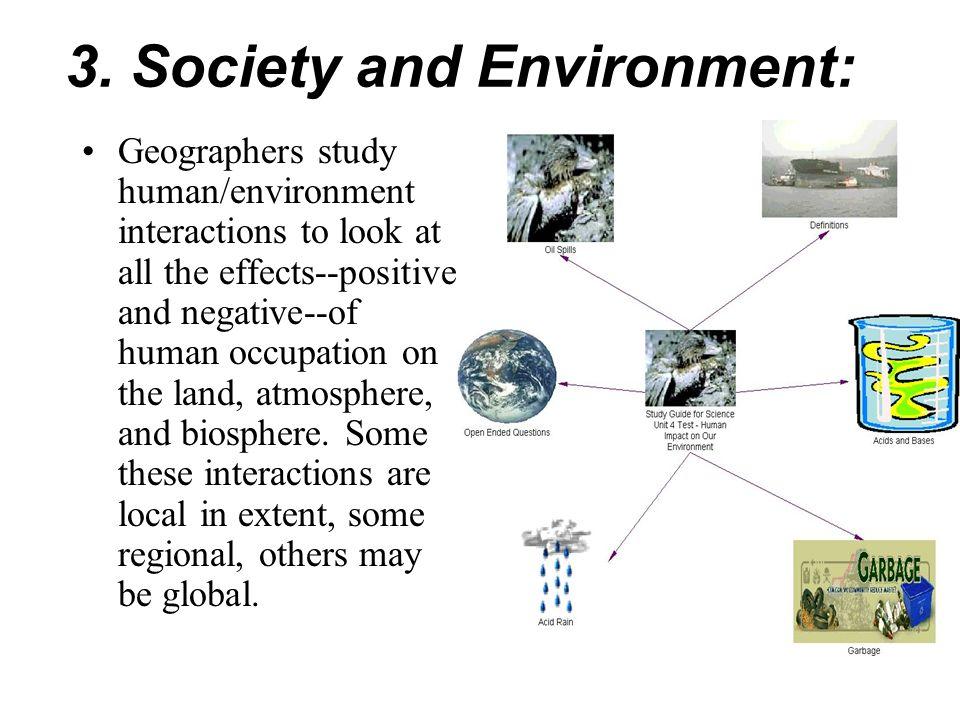 3. Society and Environment: