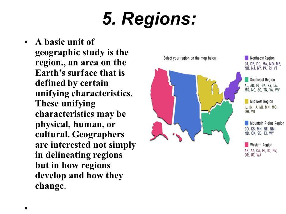 5. Regions: