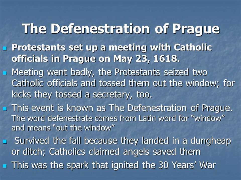 The Defenestration of Prague