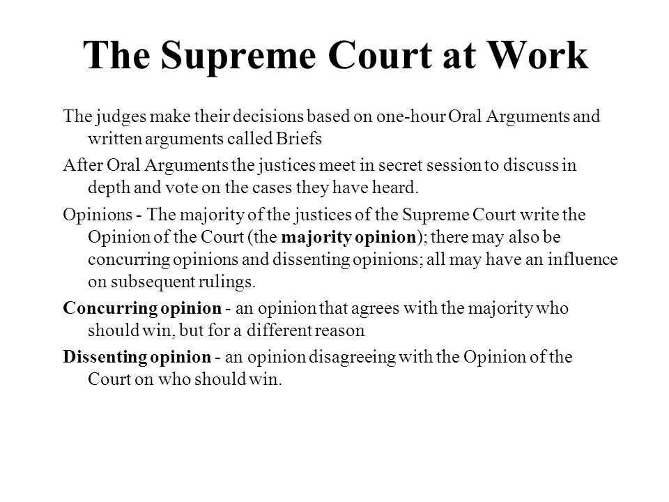 The Supreme Court at Work