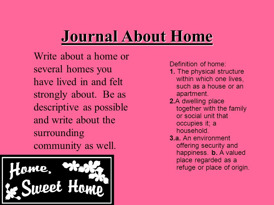 Journal About Home
