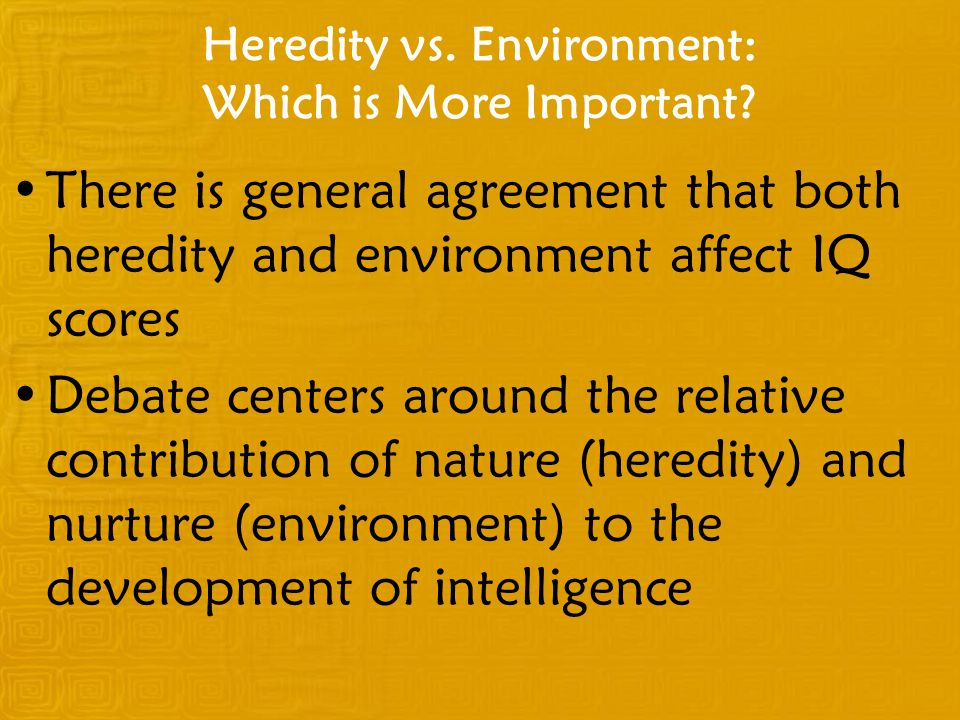 Heredity vs. Environment: Which is More Important
