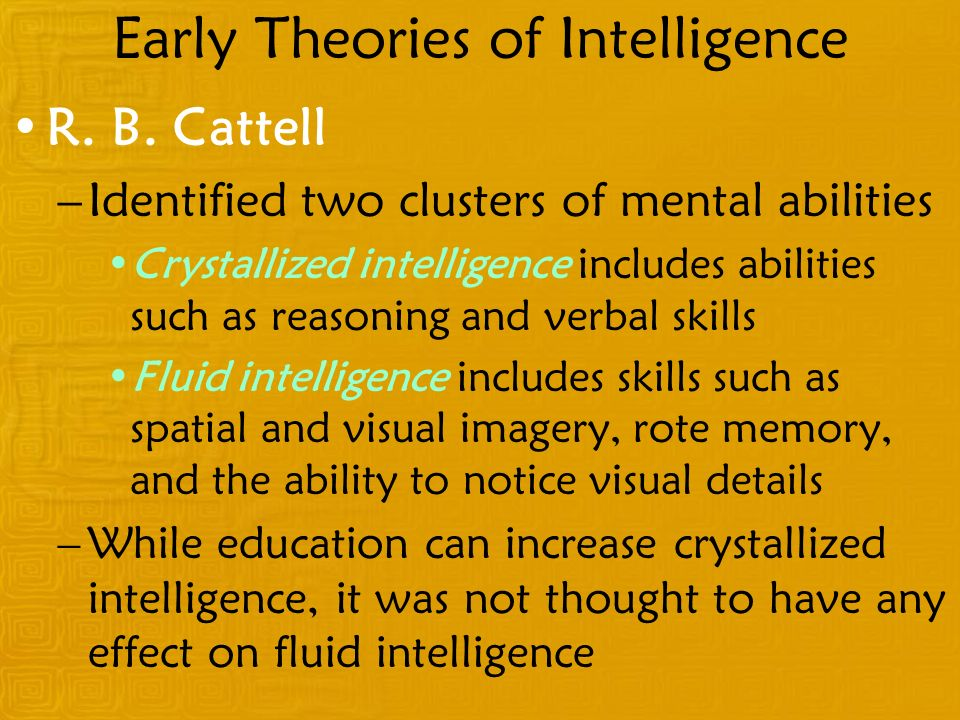 Early Theories of Intelligence