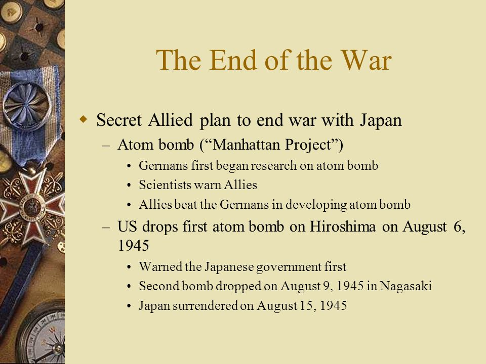 The End of the War Secret Allied plan to end war with Japan