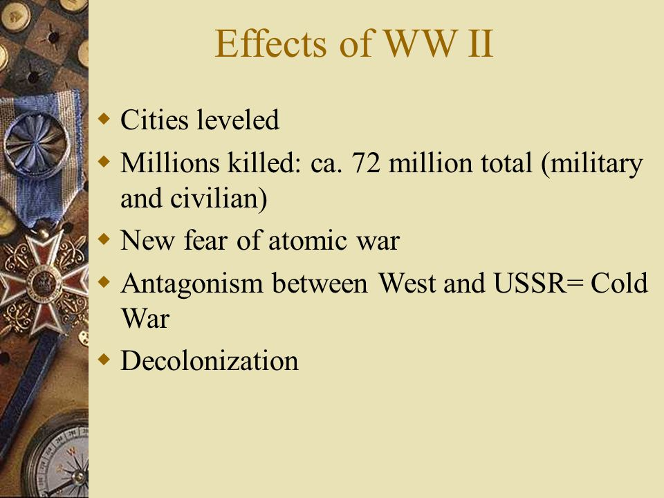 Effects of WW II Cities leveled