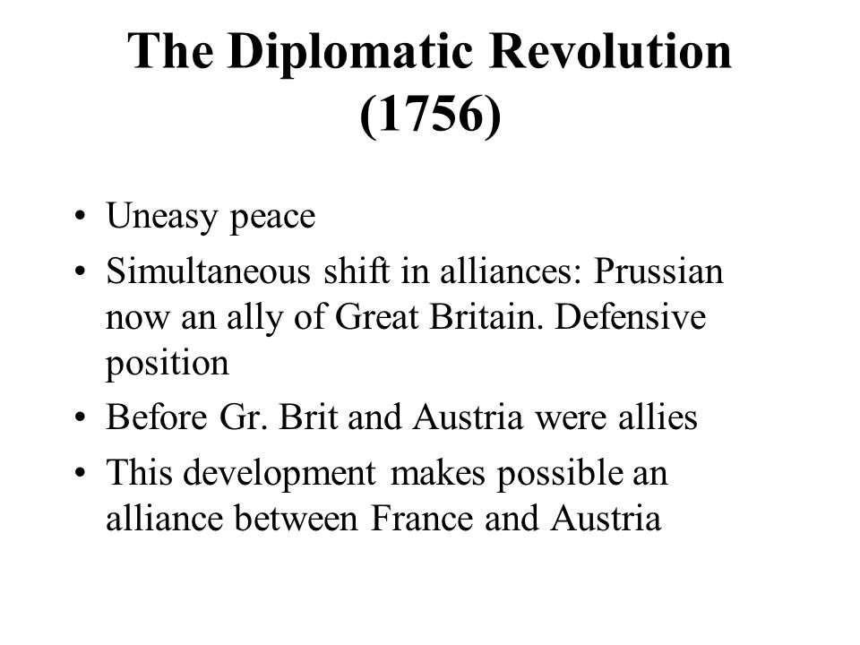 The Diplomatic Revolution (1756)