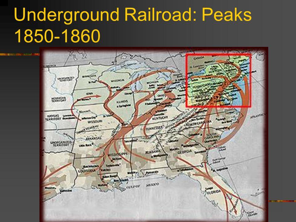 Underground Railroad: Peaks 1850-1860