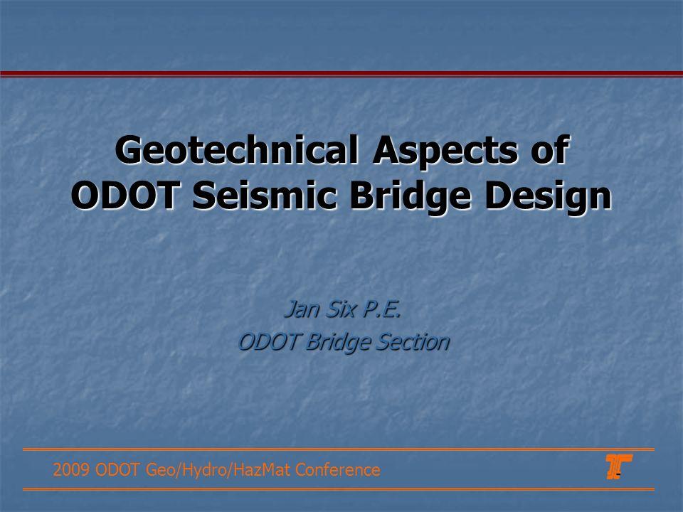 Geotechnical Aspects of ODOT Seismic Bridge Design