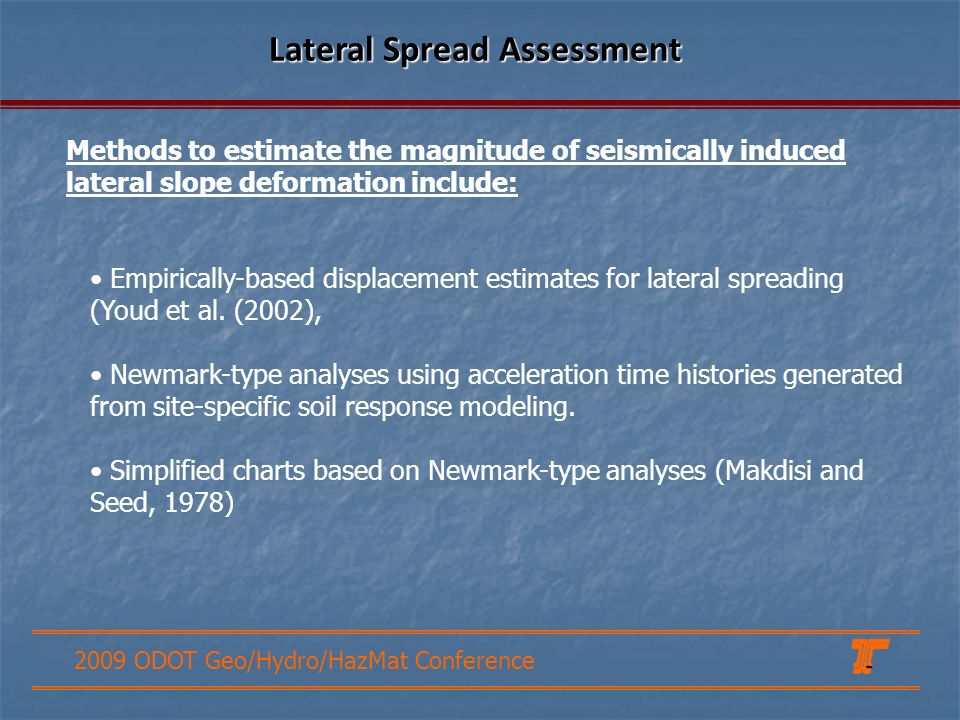 Lateral Spread Assessment