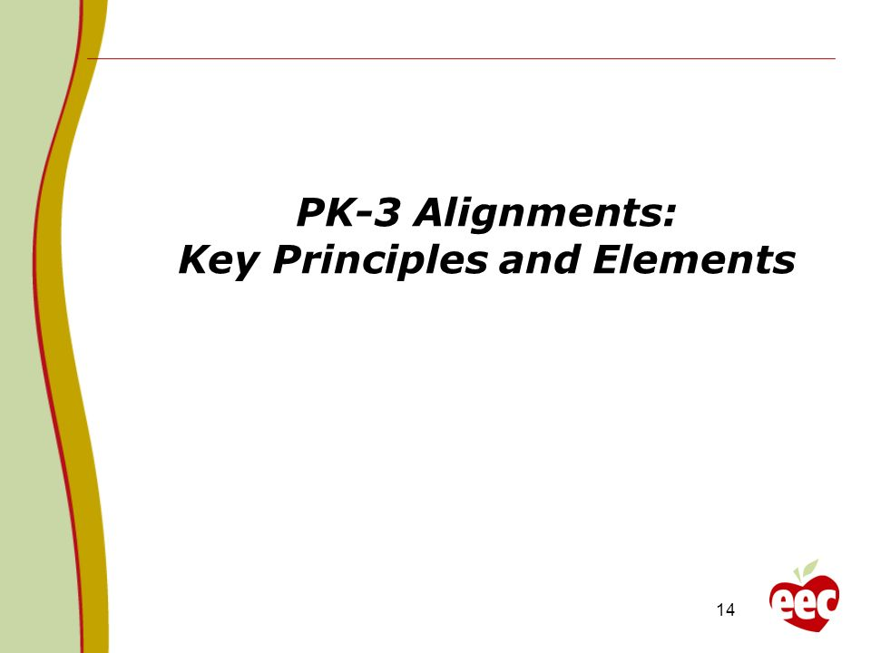PK-3 Alignments: Key Principles and Elements