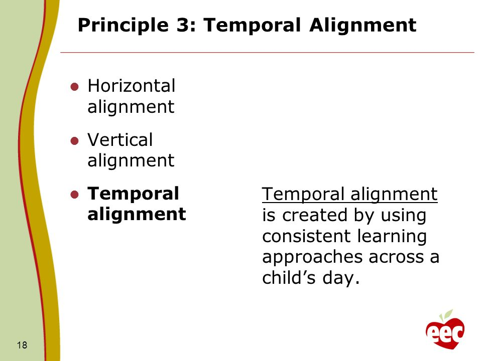 Principle 3: Temporal Alignment