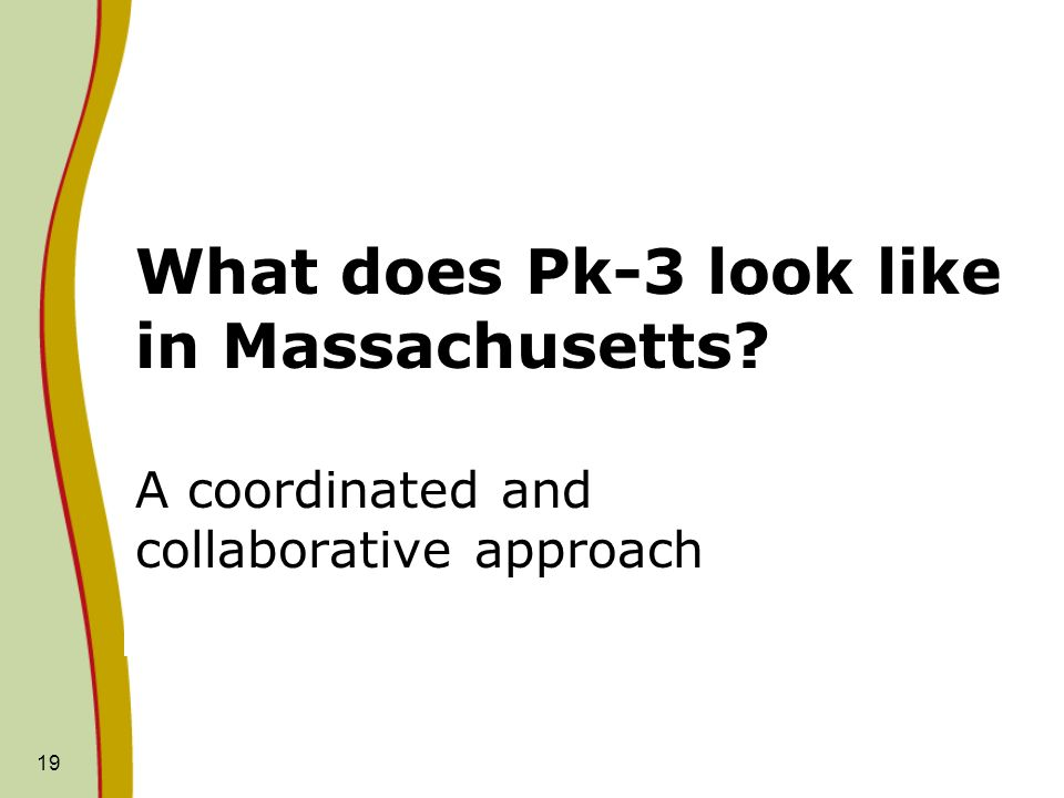 What does Pk-3 look like in Massachusetts